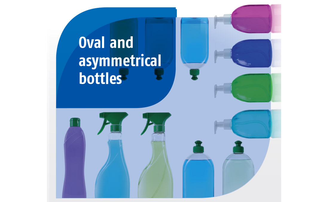 Oval and asymmetrical bottles